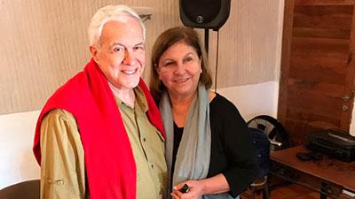 Visita de los analistas Irací Galiás y Nairo Vargas